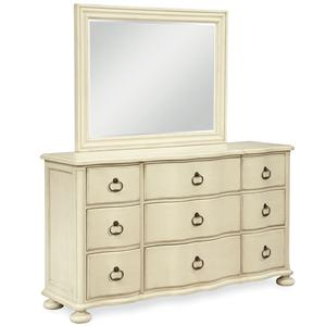 Morris Home Furnishings Riverside Dresser with Landscape Mirror