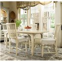 Universal River House 5 Piece Kitchen Dining Set - Item Number: 394652+4x32-RTA