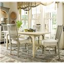 Universal River House 5 Piece Kitchen Dining Set - Item Number: 394652+4x396632-RTA