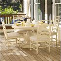 Universal River House 5 Piece Dining Set - Item Number: 394657+4x34-RTA