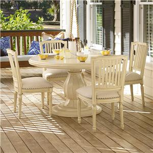Morris Home Furnishings Riverside 5 Piece Dining Set with Pull-Up Side Chairs