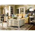 Morris Home Furnishings Riverside 3 Drawer Chair Side Table - Shown with the Family Room Table and Bobbin Side Table