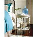 Morris Home Furnishings River House Bobbin Side Table with Scalloped Apron