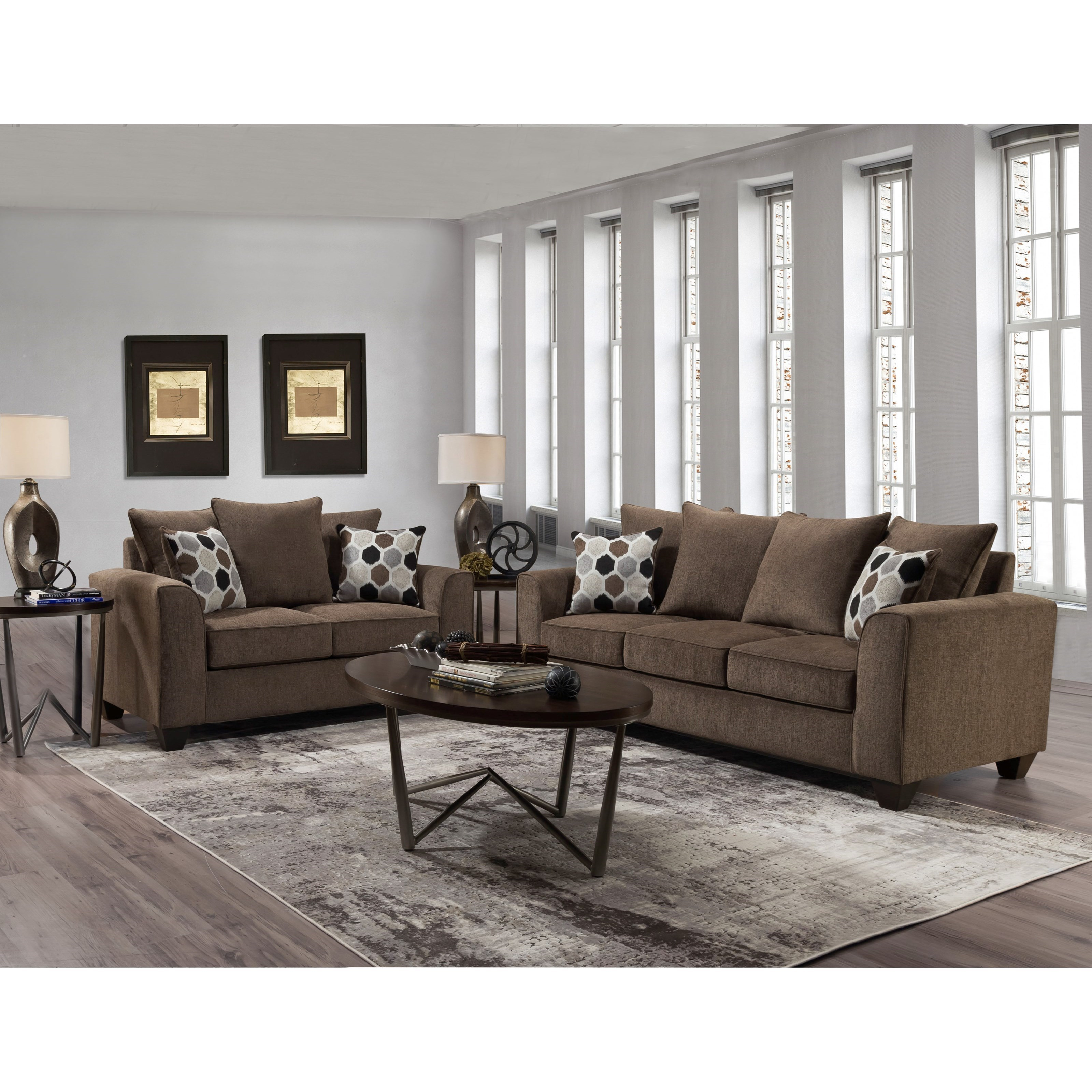 1220 Stationary Living Room Group by Peak Living at Prime Brothers Furniture