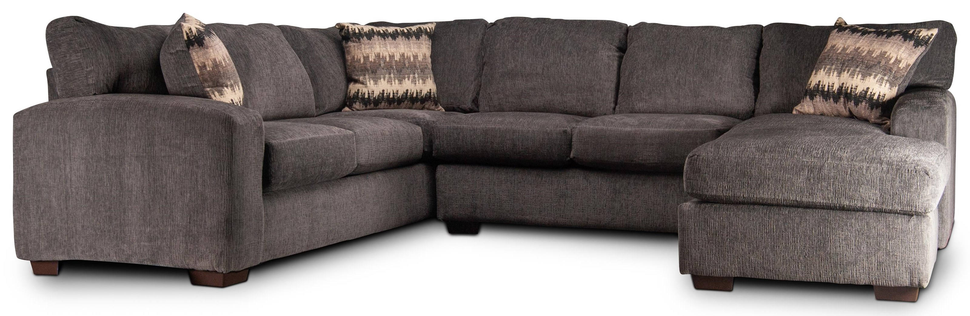 Cyndel Cyndel Sectional Couch with Accent Pillows by Peak Living at Morris Home