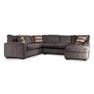 Cyndel Sectional Couch with Accent Pillows