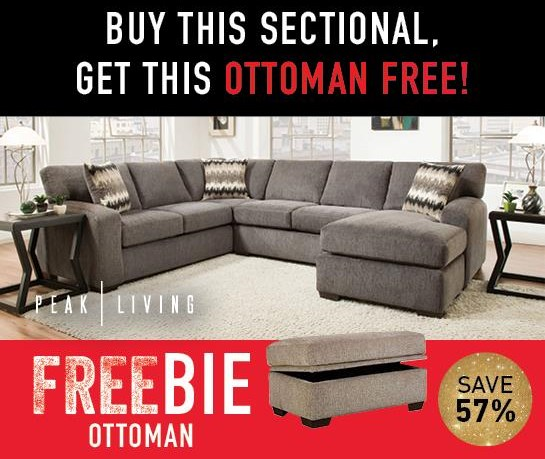 Cyndel  Cyndel Sectional Sofa with Freebie! by Peak Living at Morris Home