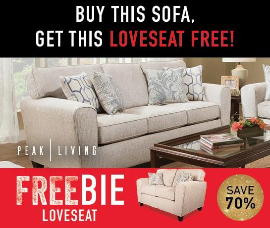 Rexanna Rexanna Sofa with Freebie! by Peak Living at Morris Home