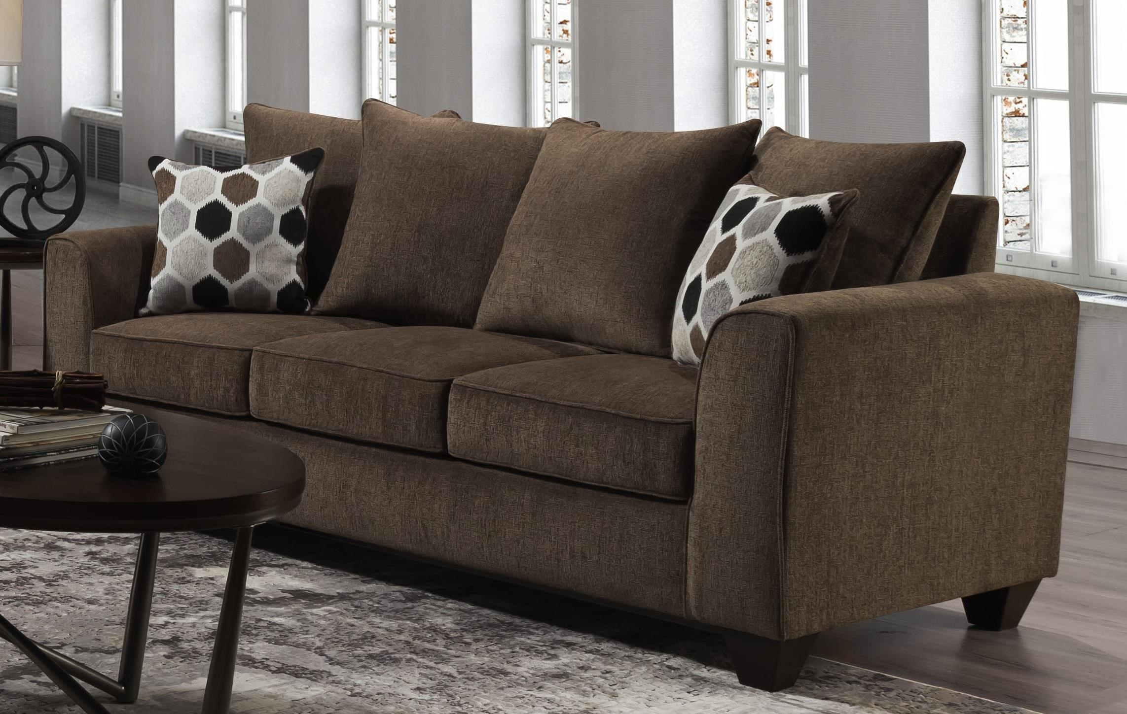 Tripp Tripp Sofa with Accent Pillows by Peak Living at Morris Home