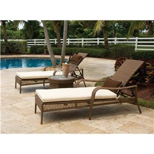 Pelican Reef Barbados  Stackable Chaise Lounge w/ Cushion