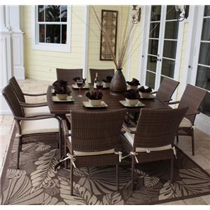 Pelican Reef Barbados  Slatted Rect Table and Chair Set