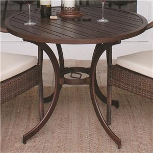 """Pelican Reef Barbados  Round Slatted Bistro Table 30"""""""