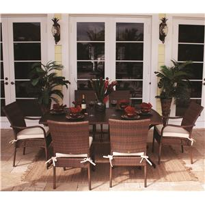 Pelican Reef Barbados  Rect Slatted Table & Chairs Set