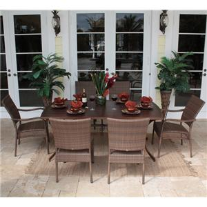 Pelican Reef Barbados  Rect Slatted Table & Chair Set