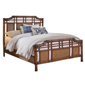 King Bed with Rattan Panels