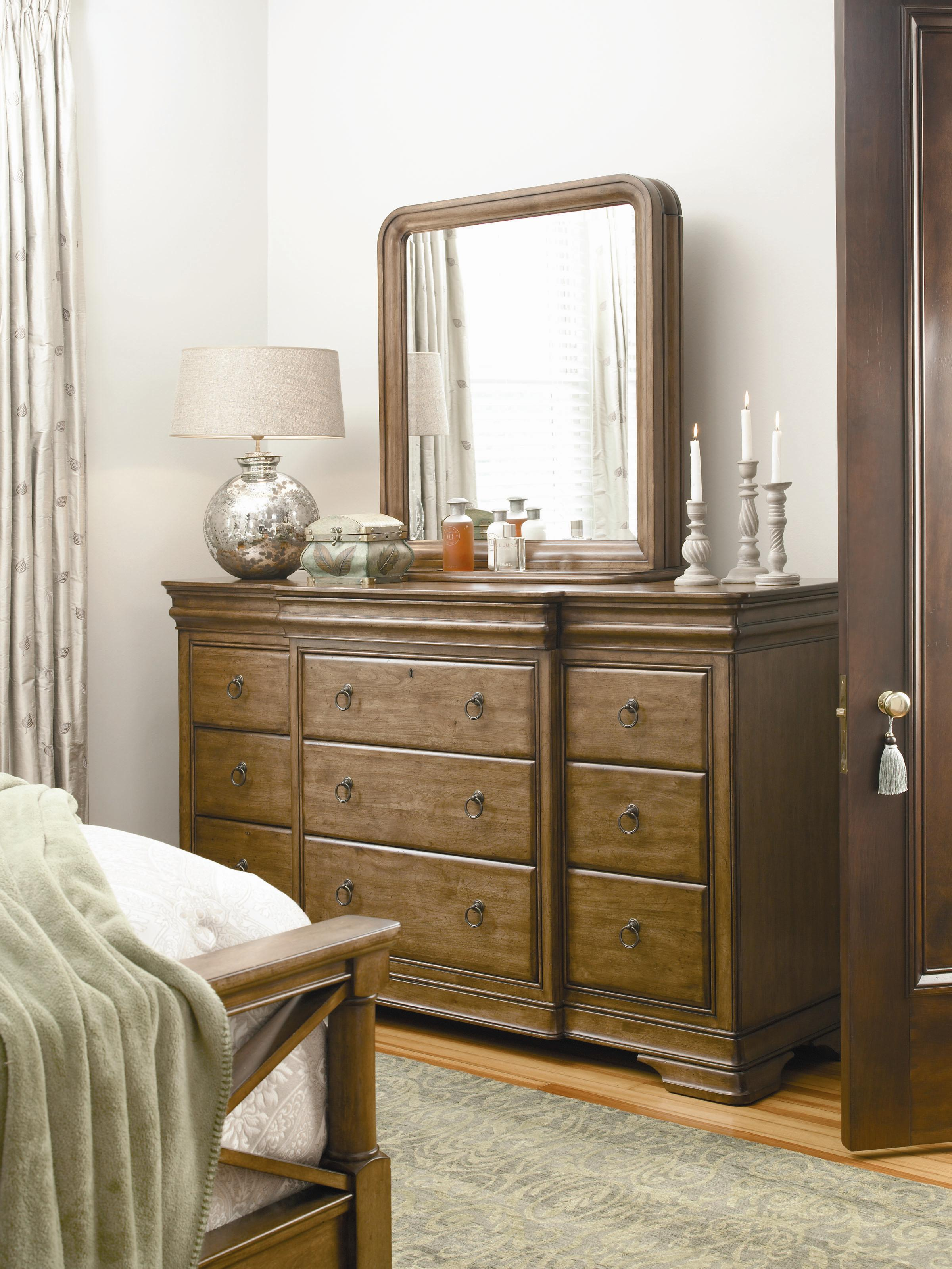Universal New Lou Dresser and Storage Mirror Combo - Item Number: 071040+6M