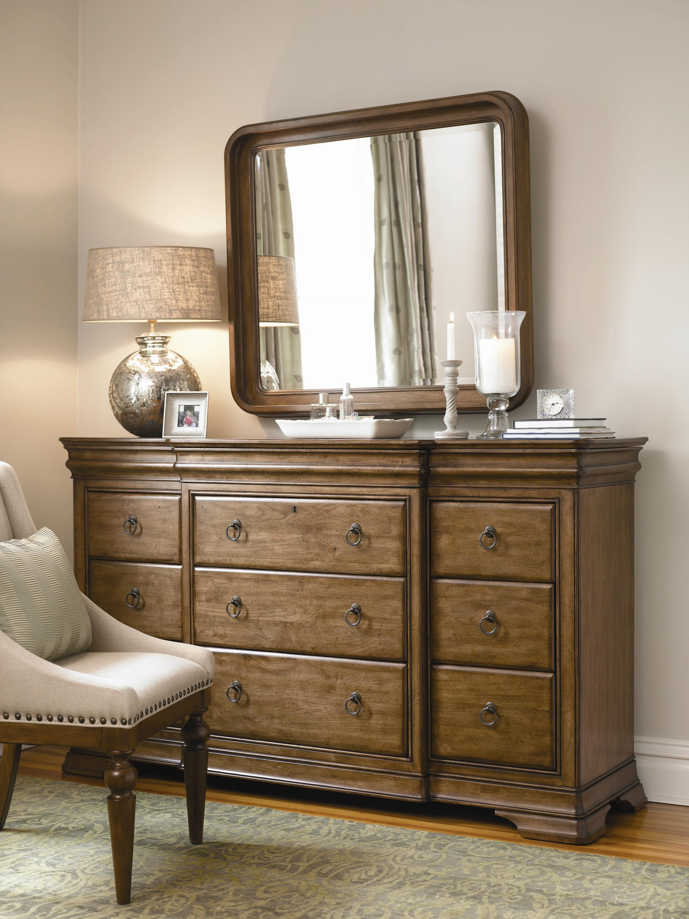 Universal New Lou Dresser and Mirror Combo - Item Number: 071040+M