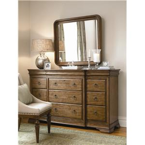 Morris Home Furnishings Newton Falls Dresser and Mirror Combo