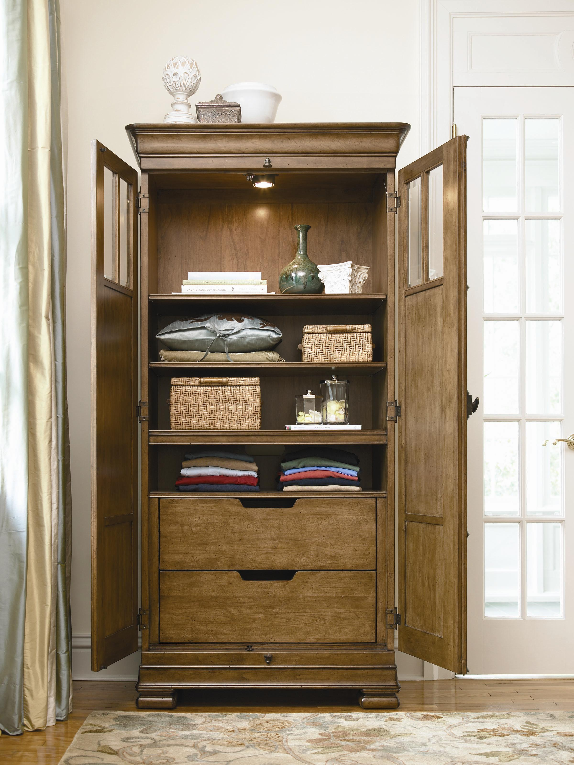 Universal New Lou Tall Cabinet - Mueller Furniture - Armoires