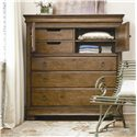 Morris Home Furnishings Newton Falls Dressing Chest with 3 Drawers - Doors Open Revealing Additional Storage Space