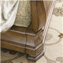 Universal New Lou King Louie P's Sleigh Bed - Ornate Leg Detailing