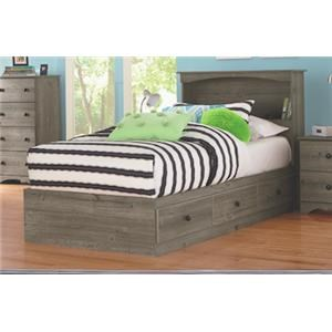 Twin Size Bookcase Bed with Storage