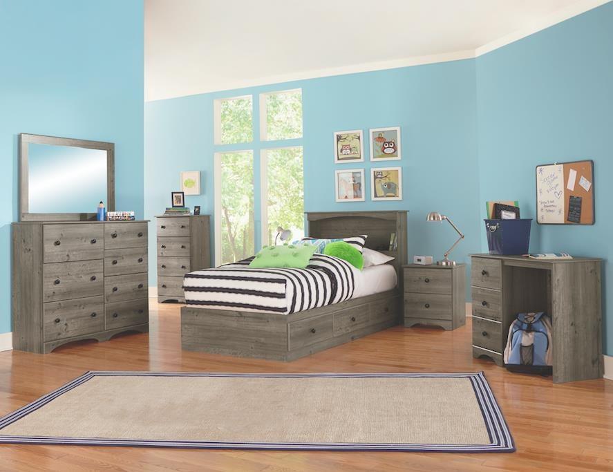 4 Piece Twin Storage Bedroom Set