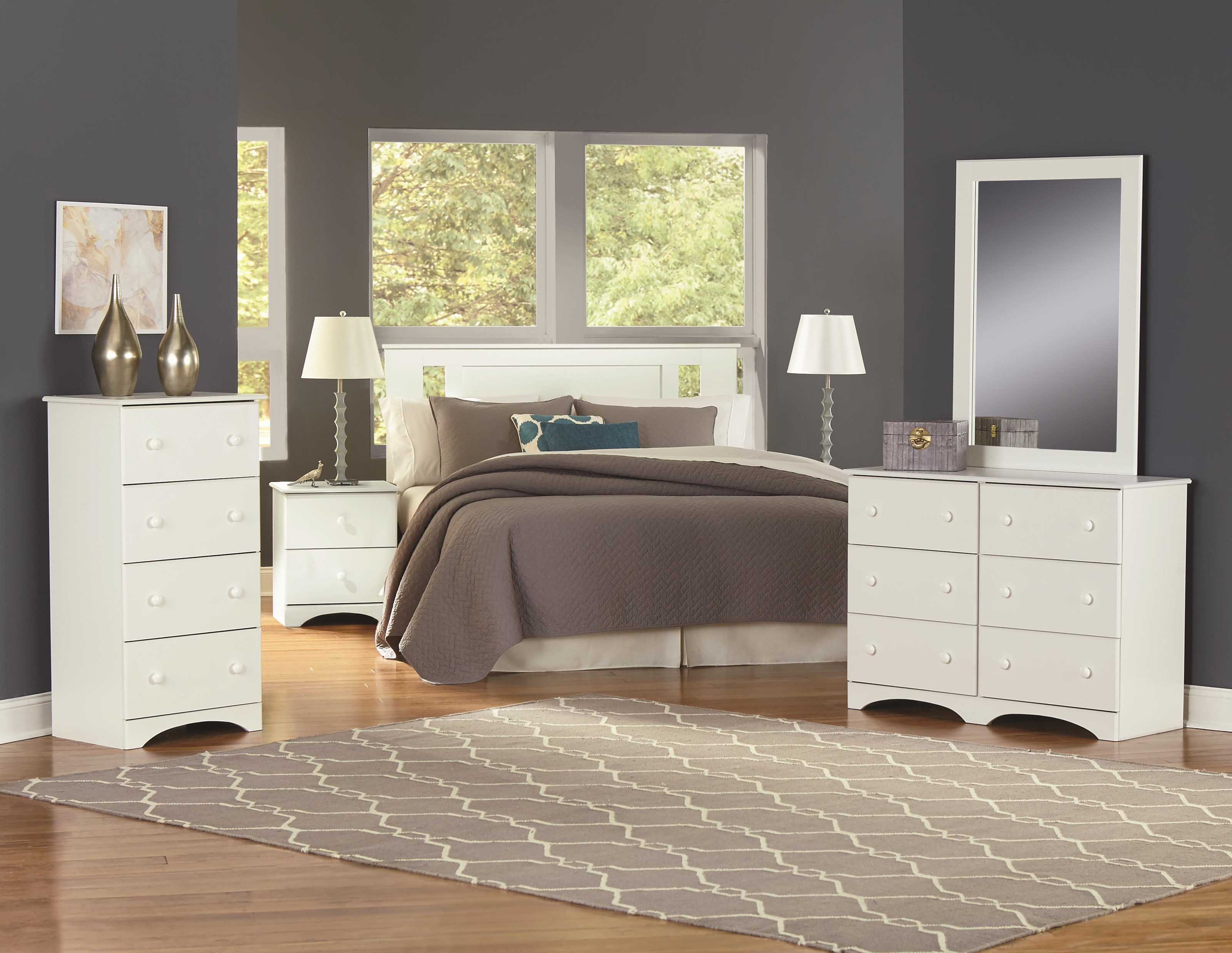 Full Panel Bed with Storage Package