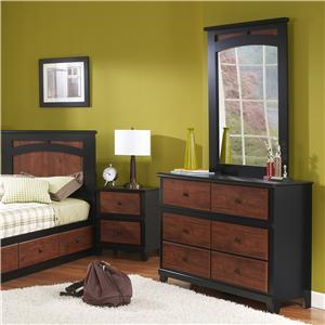 Perdue 49000 Series 6-Drawer Dresser & Mirror Set