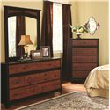 Perdue 49000 Series 7-Drawer Dresser & Landscape Mirror - Item Number: 49607+020