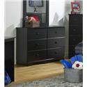 "Perdue 5000 Series 6 Drawer 45"" Dresser - Item Number: 576520019"