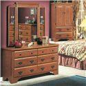 Perdue 54000 Series 6-Drawer Dresser & Wing Mirror Set - Item Number: 54576+020