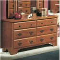 Perdue 54000 Series 6-Drawer Dresser - Item Number: 54576