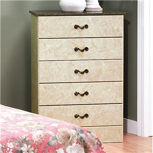 Perdue Sicilian Marble 5-Drawer Chest