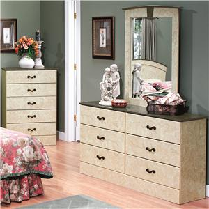 6-Drawer Dresser & Mirror Set