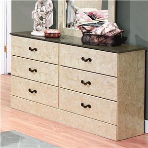 Perdue Sicilian Marble 6-Drawer Dresser