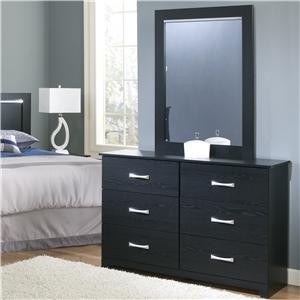 Perdue Crosstown Dresser and Mirror