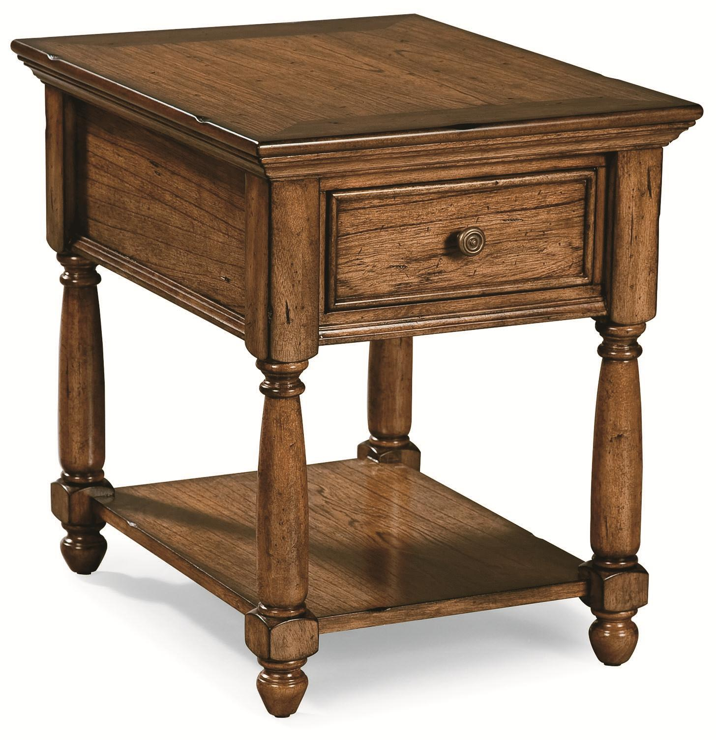 Peters Revington Briarwood End Table With Drawer U0026 Shelf | Westrich  Furniture U0026 Appliances | End Tables