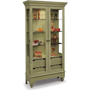 Philip Reinisch ColorTime - Green Summerville Display Cabinet