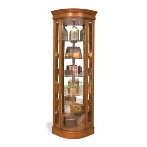 Philip Reinisch Lighthouse Curios Auberge II Curved Corner Cabinet