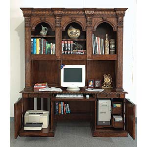 Philippe Langdon St. James Computer Desk and Hutch