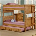 Pine Crafter Youth Bedroom Full/Full Bunk Bed - Item Number: 3013F