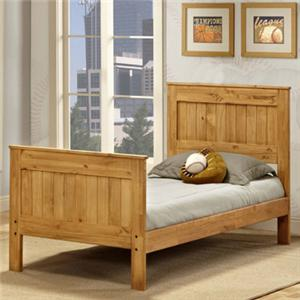 Pine Crafter Youth Bedroom Twin Mates Bed