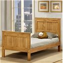 Pine Crafter Youth Bedroom Full Mates Bed - Bed Shown May Not Represent Size Indicated
