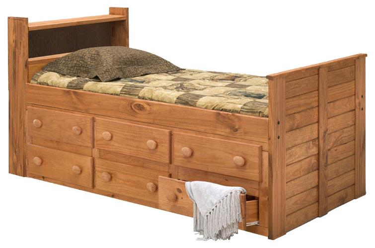 Twin Captain's Bed with Underbed Storage
