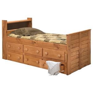 Pine Crafter Youth Bedroom Twin Captain's Bed with Underbed Storage