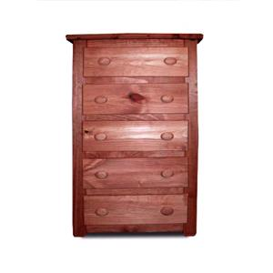 Pine Crafter Youth Bedroom Solid Pine 5-Drawer Chest