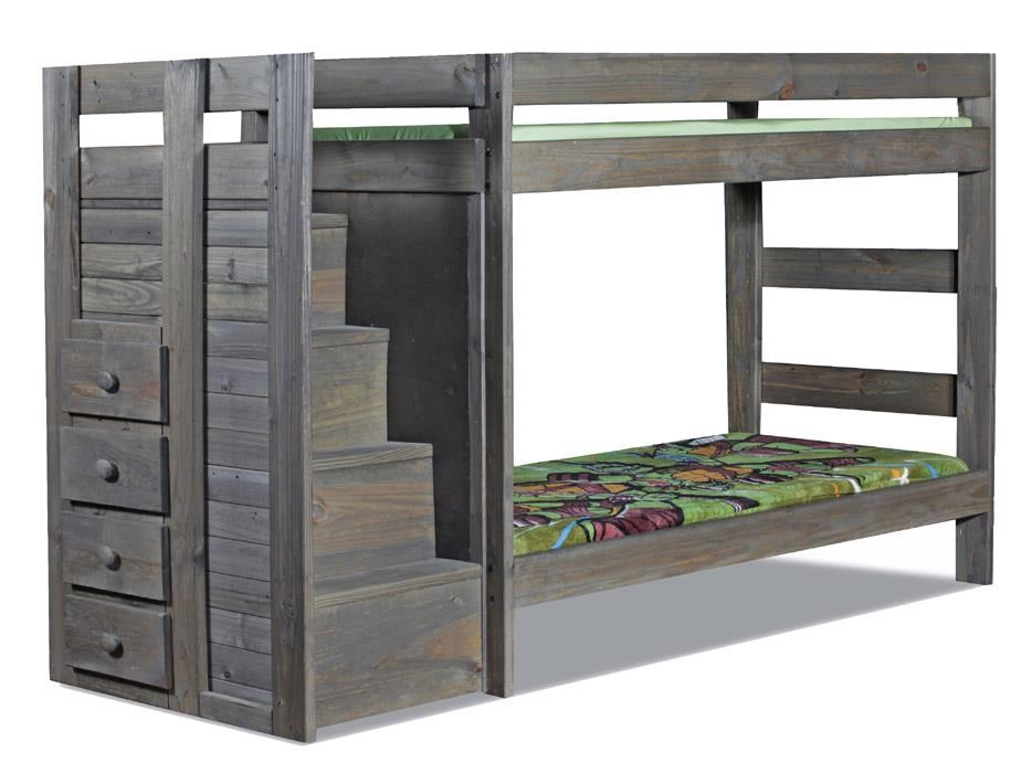 Staircase Twin/Twin Bunk Bed