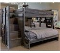 Pine Crafter Walnut Walnut Twin Over Full Staircase Bed - Item Number: GRP-WAL49411-STRCASE-TW-FULL-BUNK