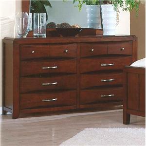 Pinewood International Casual Cherry 8-Drawer Dresser